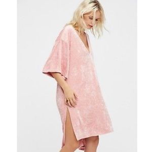 Free People pink velvet Tunic Dress
